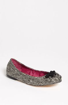 Sam Edelman 'Fern' Flat (Online Exclusive) available at #Nordstrom    Sparkly neutral ballet shoes.  I would wear these every day....if they came in size 11.