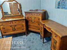 Floral Transfers For Furniture Victorian Bedroom Set, Victorian Bedroom Furniture, Vintage Bedroom Sets, Victorian Dressers, Vintage Dressers, Diy Dresser Makeover, Furniture Makeover, Diy Furniture, Laminate Furniture