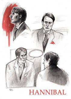 Hannibal - sketches by Psyche-Evan.deviantart.com on @deviantART
