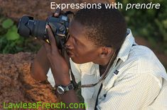 """#French verb """"prendre"""" means so much more than """"to take"""" as you'll discover in this lesson detailing the dozens of French expressions that use the common verb. #learnfrench #lawlessfrench"""