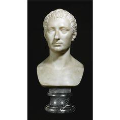 Bertel Thorvaldsen (1770-1844) Danish, circa 1816-1819 A MARBLE BUST OF COUNT NICHOLAS DEMIDOFF.