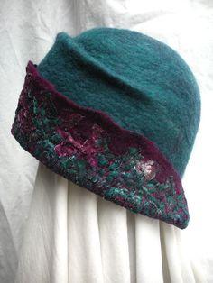 Hats ~ Pelske's Felt Design Love the detail on the upturned brim.  #millinery #judithm #hats