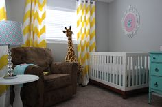 Emerson's Yellow, Aqua, and Pink Nursery