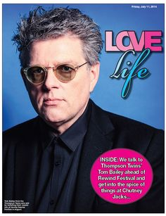 Tom Bailey Reading Chronicle Cover A fab interview with Tom Bailey of The Thompson Twins by Ross Owen Williams http://www.rossowenwilliams.com/interview-tom-bailey-thompson-twins/