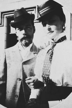 Nicholas II and Empress Alexandra Feodorovna, in 1896 at Balmoral.