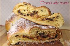 Treccia alla ricotta e gocce di cioccolato o uvetta - Alto Adige