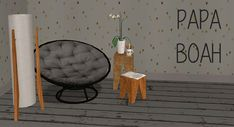— Recolors of FSMCDesign's papasan chair, Evanesco's. Dining Room Chairs, Table And Chairs, Side Chairs, Papasan Chair, Armless Chair, Striped Chair, Antique Chairs, Chair Types, Bedroom Chair