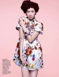Ornamental Granny Fashion  A Retro-Inspired Shoot from Harper's Bazaar Korea March 2012