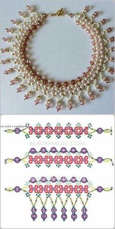 Best Seed Bead Jewelry 2017 schema for Pearls& Roses ~ Seed Bead Tutorials is part of Beaded jewelry 2017 - Seed bead jewelry schema for Pearls& Roses ~ Seed Bead Tutorials Discovred by Linda Seed Bead Bracelets, Seed Bead Jewelry, Bead Jewellery, Jewellery Shops, Jewellery Holder, Tanishq Jewellery, Jewelry Necklaces, Headpiece Jewelry, Long Necklaces