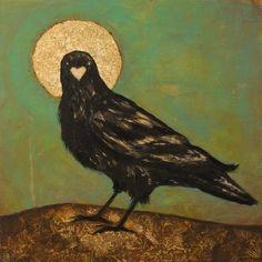 Crow Art, Raven Art, Crows Ravens, Art Thou, Gods And Goddesses, Beautiful Birds, Eagles, Pet Birds, Mystic