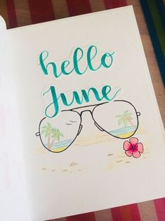 June Monthly Cover Spread | Bullet Journal BuJo | Anique Gerrits ✏️