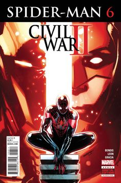 Marvel Comics Spider-Man (Vol 2) #6 1st Printing Sara Pichelli Cover *Description: CIVIL WAR II TIE-IN! Miles Morales has only been in the Marvel Universe for a few weeks, and he's already finding him