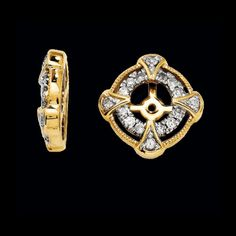 Shop for Gold earring jackets, white gold earring jacket, and diamond jackets for your earrings. Beautiful designs to choose from at our safe online jewelry store. Diamond Rings, Diamond Jewelry, Designer Earrings, Designer Jewellery, Antique Jewelry, Vintage Jewelry, Diamond Earring Jackets, Gold Earrings, Jewellery Earrings