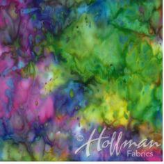Rainbow Bright Batik Fabric