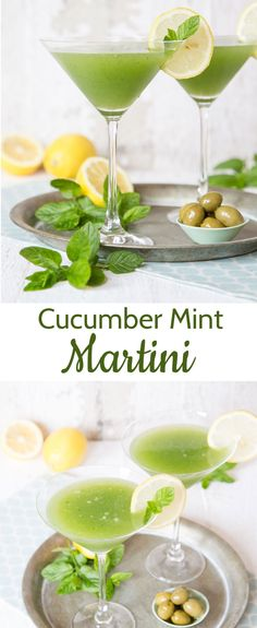 This refreshing and icy cold cucumber and mint gin martini is perfect for a hot and humid summer's day.