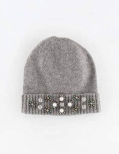 Jewelled Beanie Hats, Scarves & Gloves at Boden Crochet Baby Beanie, Knit Beanie Hat, Knit Crochet, Crochet Hats, Beanies, Knitting Accessories, Women's Accessories, Knitting Projects, Knitting Patterns