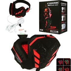 Cosonic CD   Noice Isolation USB Stereo Gaming Headset $10.53 Visit online-sales.club for more products  #onlineshopping #shop #shopping #shoponline #headset #headphones #gaming #gamers #game