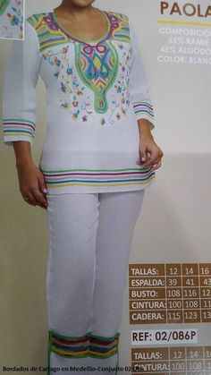 CONJUNTOS Y VESTIDOS - PRIMAVERAL Bordados y Accesorios Culture Day, White Jeans, Diva, Romantic, Womens Fashion, Casual, Pants, Jackets, Clothes