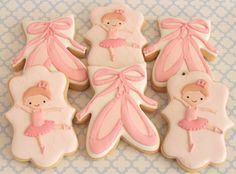 Ballerina Cookies~ By miss biscuit on Flickr, pink, tutu, slippers