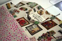 E074-137 24cmファスナーのあおりバッグ : うねうねごろごろ Quilts, Blanket, Blog, Handmade, Free, Patterns, Accessories, Japanese Language, Block Prints