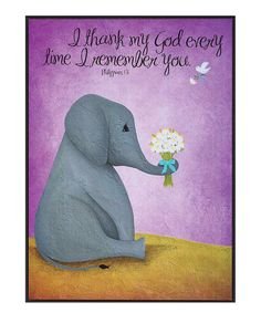Take a look at this 'Every Time I Remember You' Wall Art on zulily today! Elephant Home Decor, Elephant Wall Art, Purple Wall Art, Purple Walls, Painting Inspiration, Find Art, Dinosaur Stuffed Animal, Fine Art Prints, Canvas