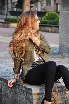 Lovely style & hair!