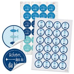 Blue Stickers Pisces + 24 Nice to have you there) - 4 cm round - partyfav Invitation Design, Invitations, Home Crafts, Diy Crafts, Ritz Crackers, Guest Gifts, Wedding News, Wedding Napkins, Romantic Travel