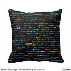 Beloit Text Design I Throw Pillow