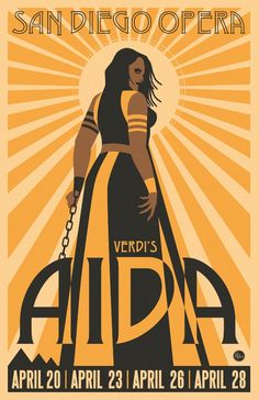 Poster for the San Diego Opera's production of Aida by R. Black