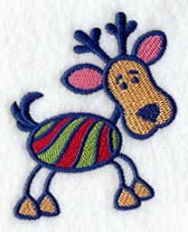 Striped Reindeer design (C7015) from www.Emblibrary.com