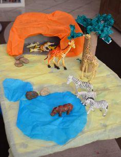 African Safari - small world play African Theme, African Safari, Eyfs Activities, Preschool Activities, Elephant Habitat, Diorama Kids, Dramatic Play Area, Small World Play, Big Animals