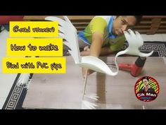 #kitasokongkita #hiasanhalaman #mintamaaf How to make PVC pipe birds(road runner) bad video quality