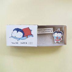 "Funny Card Matchbox/Superhero Birthday Card Small Tiny Gift box/ ""Happy birthday my superman"" / Happ Nice Birthday Messages, Diy Birthday Banner, Birthday Wishes Funny, Birthday Gifts For Teens, Happy Birthday, Birthday Box, Birthday Gifts For Sister, Birthday Crafts, Birthday Gifts For Boyfriend"