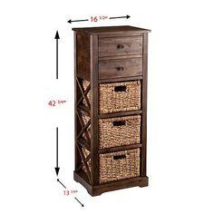 Home Marketplace Bardwell 3-Basket Storage Shelf