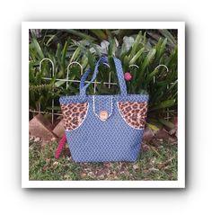 Indigo Shweshwe Tote bag with Leopard side accents by gogothabo on Etsy Tribal Fabric, Go Shopping, Tartan, Straw Bag, Indigo, Print Design, African, Tote Bag, Pattern