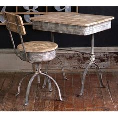 Nothing says vintage like an old school desk.