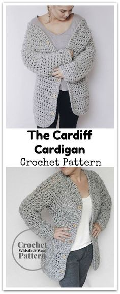 The Cardiff Cardigan- No sew, with shaping for an hourglass fit. This is a simple ALL IN ONE PIECE. SIMPLE yet extremely functional garments with all the details you want an extraordinary Cardigan to contain. This isn't a straight rectangle like so many Cardis that are easy to make. It has shape and curve to fit you impeccably. Instant PDF download #ad #affiliate #crochet #pattern