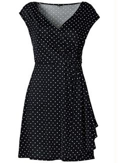 Lauren Ralph Lauren polka dot dress (size 4 works for me) Blouse Dress, Dot Dress, Dress Up, Casual Dresses, Fashion Dresses, Mode Style, White Fashion, Plus Size Fashion, Designer Dresses