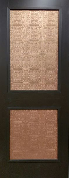 Give An Elegant Look To Your Home By Adding This Copper Two Panel Interior  Door.