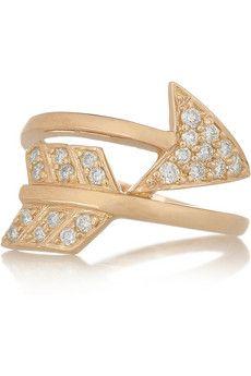 ANITA KO  Arrow 18-karat rose gold diamond ring