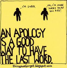 apology inspiration... but reminds me mostly of Dr. Strangelove movie
