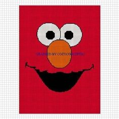 COZYCONCEPTS PATTERN GRAPH ELMO CROCHET PATTERN GRAPH AFGHAN RED FUZZY FACE EMAILED .PDF | CozyConcepts - Patterns on Ar