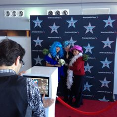American Airlines event at JFK!  For this event we produced a custom AA step & repeat production!