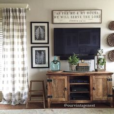 living room decor ideas for decorating around your tv via ourvintagenest - Living Room Decors Ideas