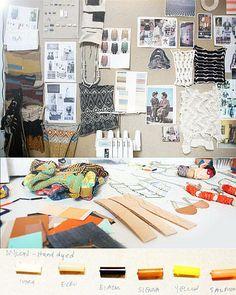 Get a Look Inside Designer Lauren Manoogian's Brooklyn Studio Backyard Studio, Room Of One's Own, Studio Organization, Linear Pattern, Workspace Design, African Textiles, Card Patterns, Creative Inspiration, Gallery Wall
