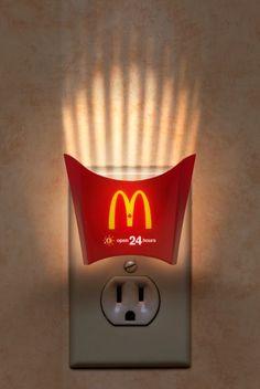McDonalds night light ad