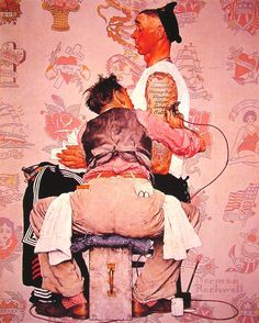 norman rockwell | The Tattooist - Norman Rockwell - WikiPaintings.org