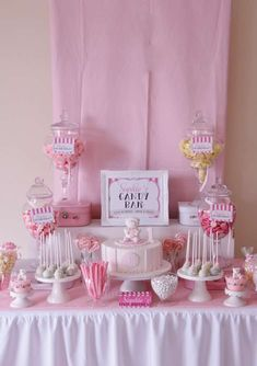 Sweets table at a Teddy bear birthday party!  See more party planning ideas at CatchMyParty.com!