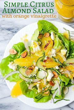 Simple Citrus Almond Salad   Garlic + Zest