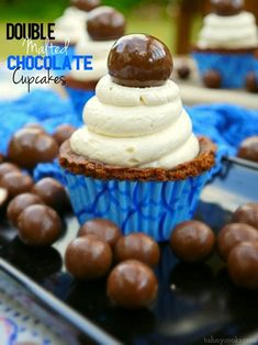 Double Malted Chocolate Cupcakes